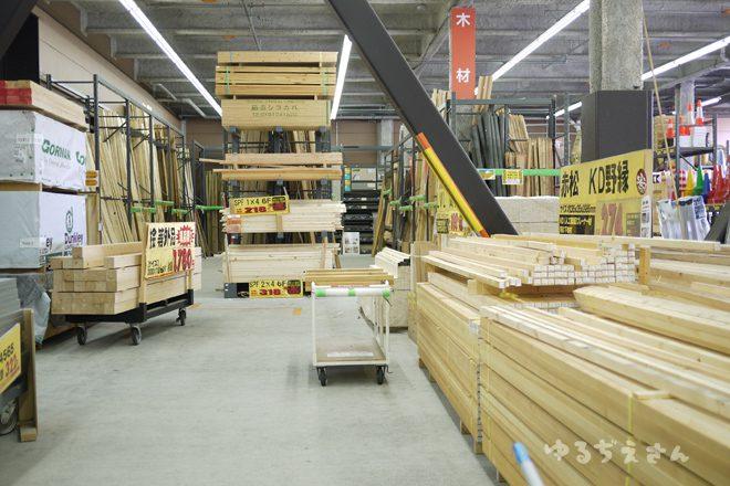 ホームセンターの木材